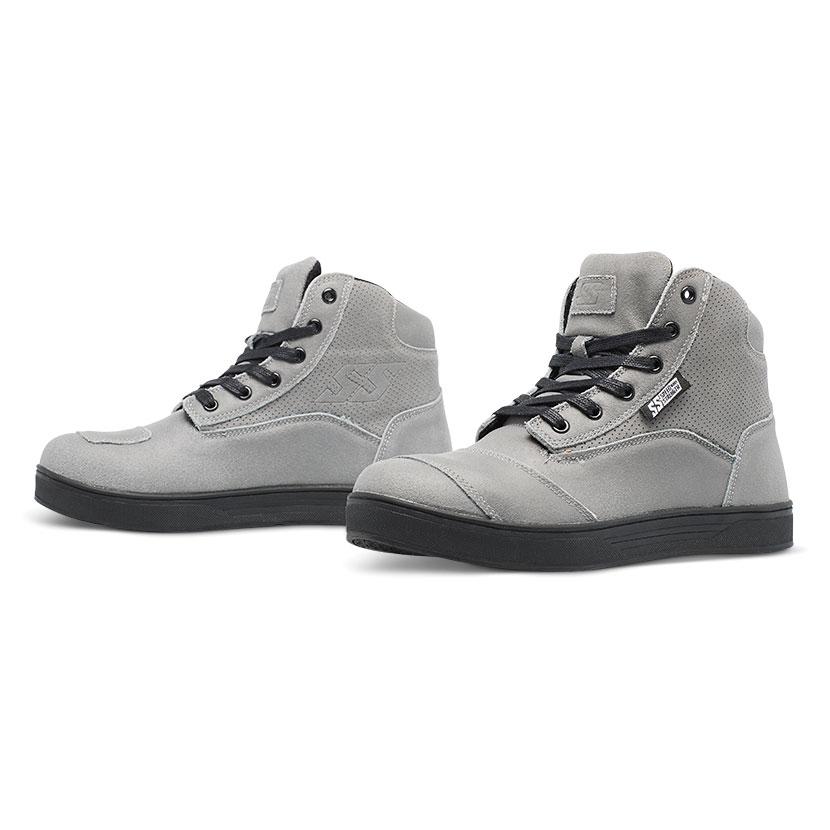 Speed and Strength Women's Jezebel Gray Moto Shoes