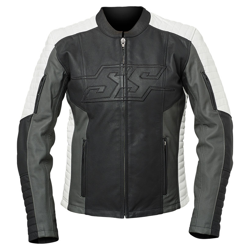 Speed and Strength Women's Hellcat Black/Gray/White Leather Jacket