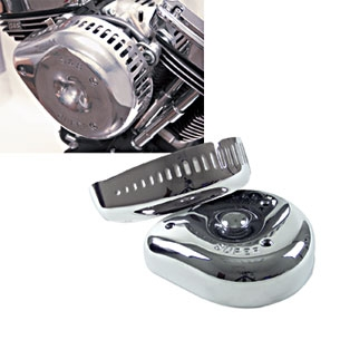 S/&S Replacement Classic Teardrop Air Cleaner Cover Chrome
