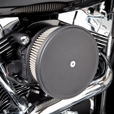Arlen Ness SS Stage II Big Sucker Kit for Sportster, Black Steel Cover
