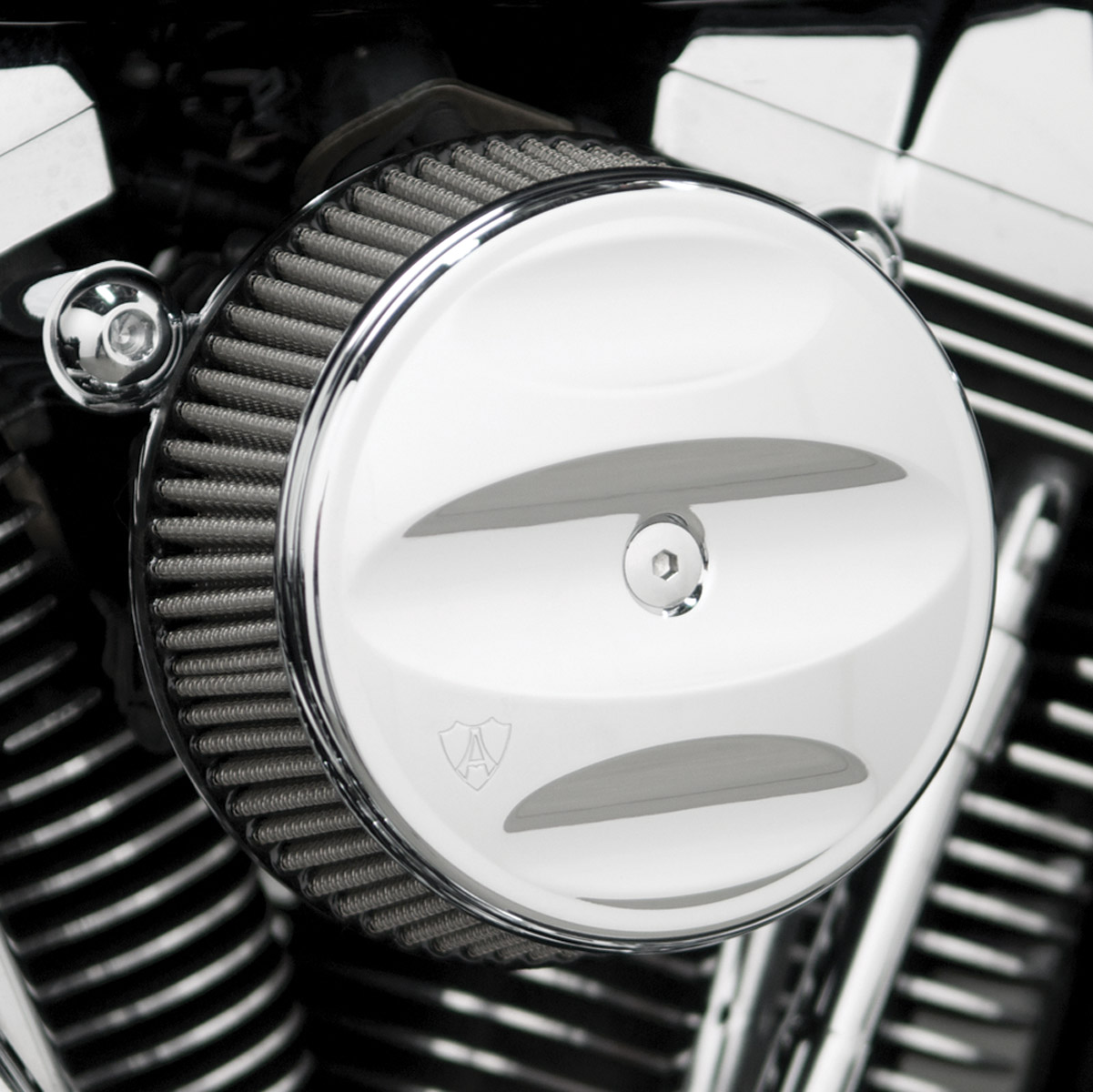 Air Cleaner Cap : Arlen ness stage i scalloped billet air cleaner cover