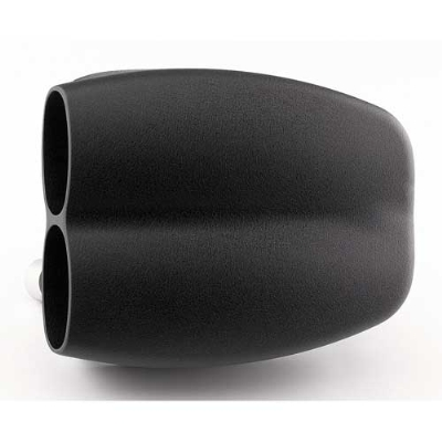 CycleVisions Mo-Flow Wrinkle Black Air Cleaner