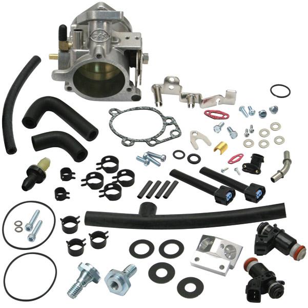 S&S Cycle 52mm Single Bore EFI Throttle Body/Fuel Rail Kit