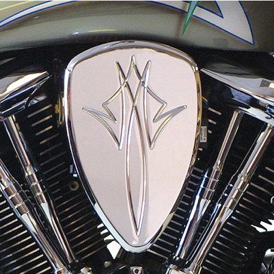 Baron Custom Accessories Chrome Pin Stripe Big Air Kit
