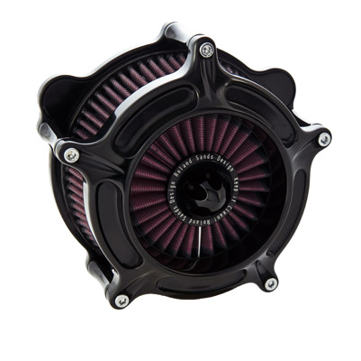 Roland Sands Design Black Turbine Air Cleaner for S&S E/G
