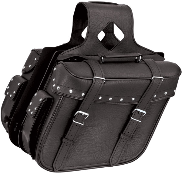 River Road Quantum Studded Slant Large Saddlebags