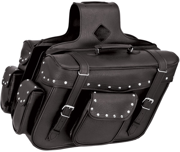 River Road Quantum Studded Slant X-Large Saddlebags