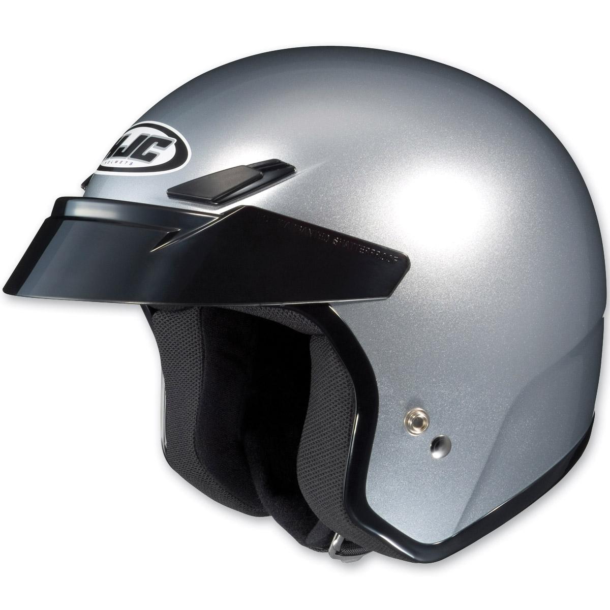 HJC CS-5N Metallic Silver Open Face Helmet