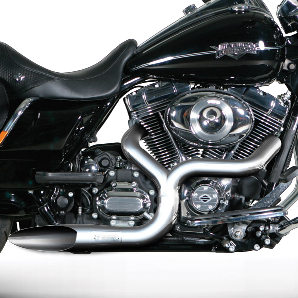 Akrapovic Chrome Open Line 2-into-1 Exhaust System for Touring/Softail Models,