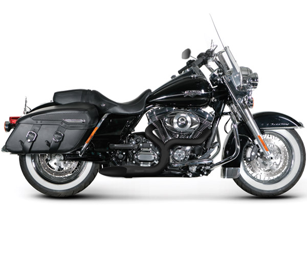 Akrapovic Black Open Line 2-into-1 Exhaust System for Touring/Softail Models,