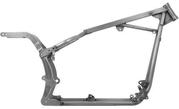 kraft tech softail style frame for twin cam b engine 35 rake