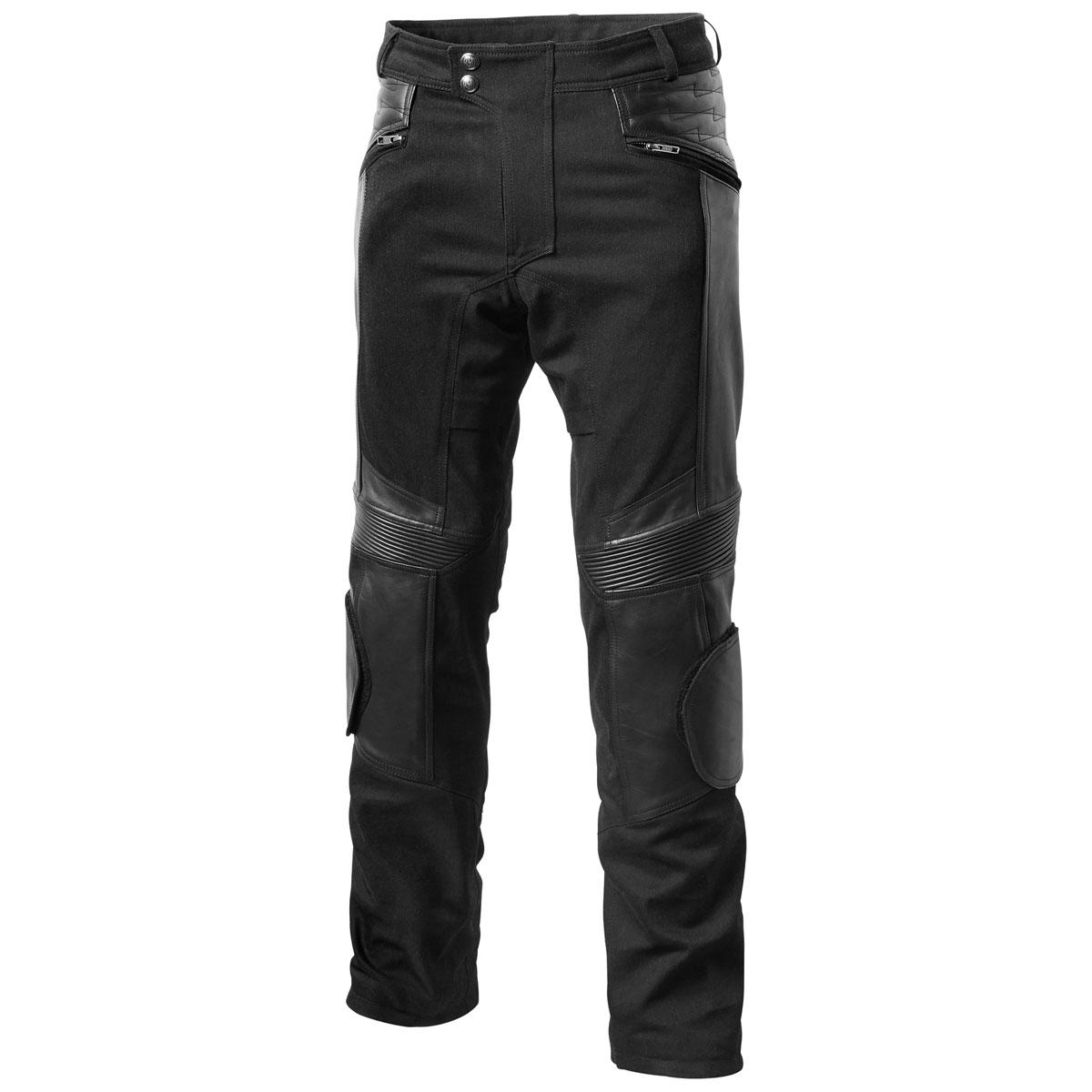 Roland Sands Design Apparel Men's Punk Race Black Leather Pants