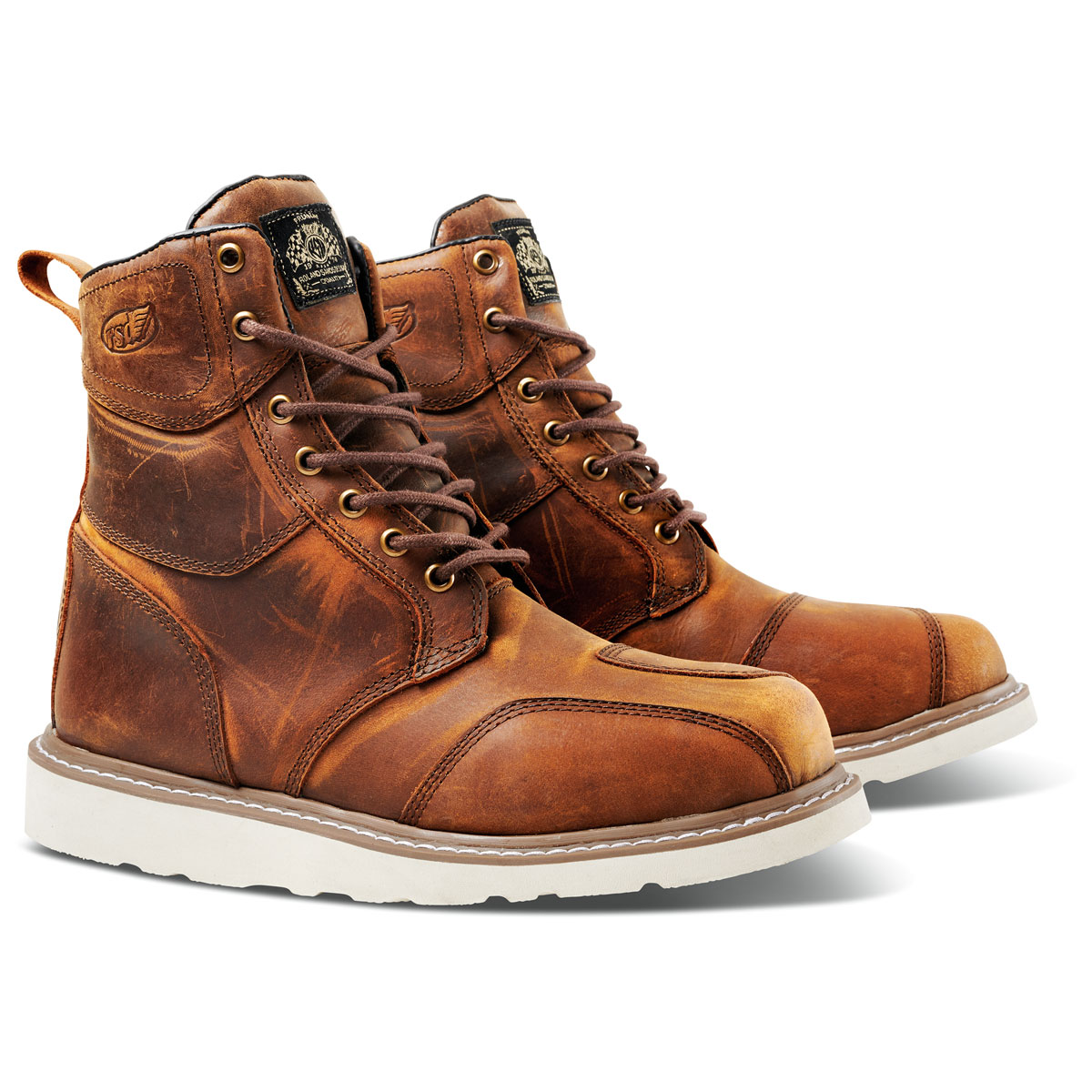Roland Sands Design Apparel Men's Mojave Tobacco Leather Boots
