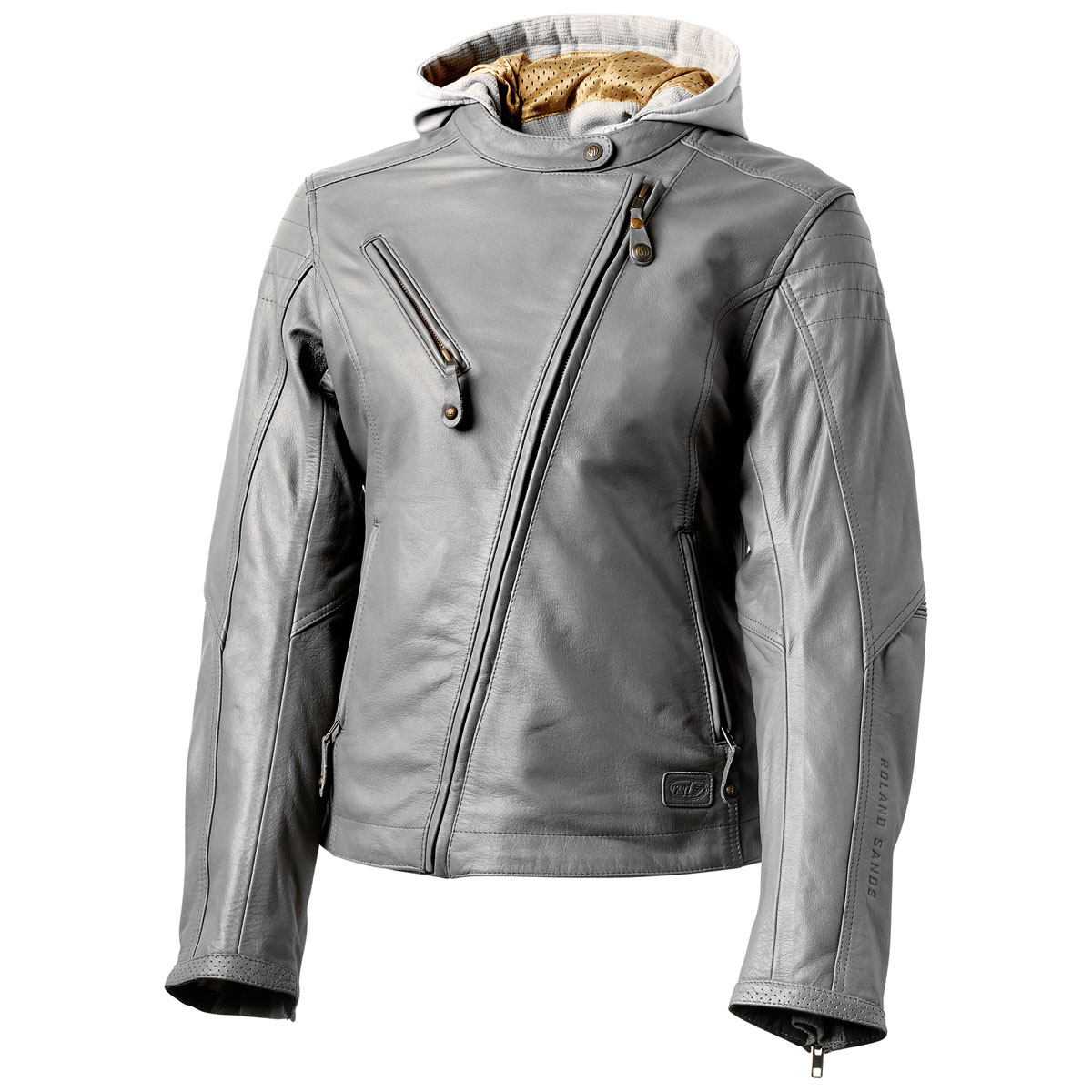 Roland Sands Design Apparel Women's Mia Gunmetal Gray Leather Jacket