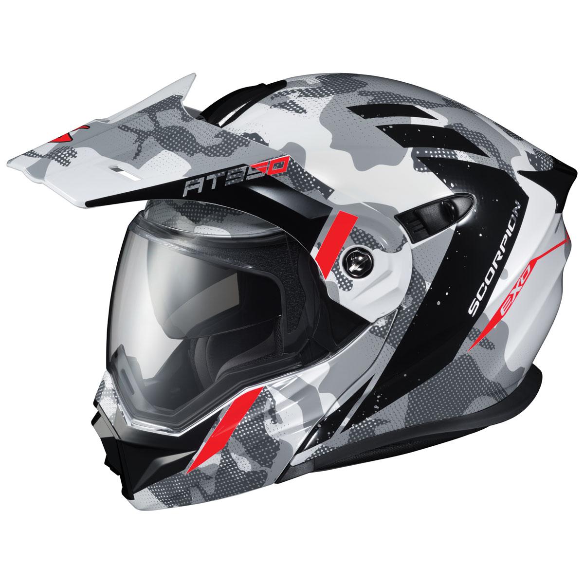Scorpion EXO EXO-AT950 Outrigger White/Gray Modular Helmet