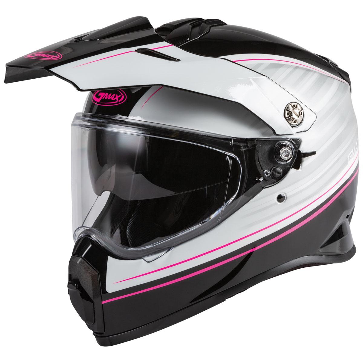 GMAX AT-21 Raley Black/White/Pink Dual Sport Helmet