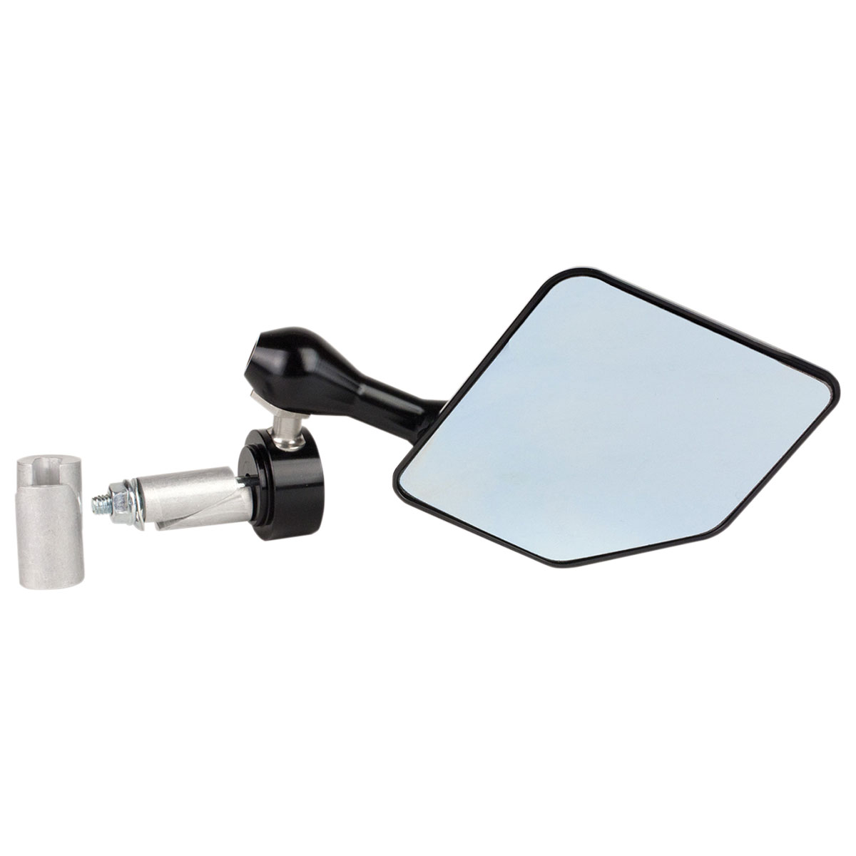 Driven Black Halo Bar End Mirror Right Side