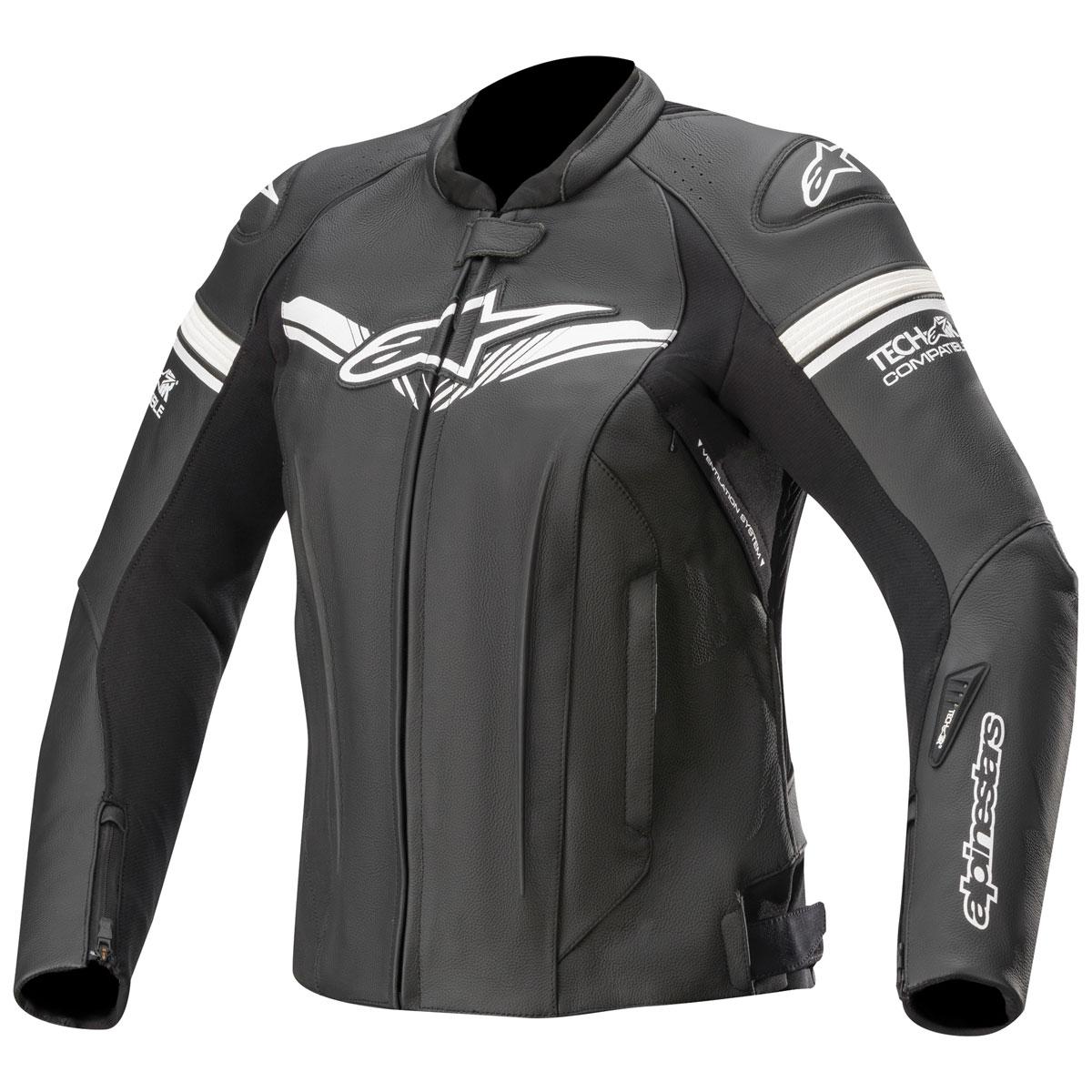 Alpinestars Women's Tech-Air Street Compatible Stella GP-R Black Leather Jacket