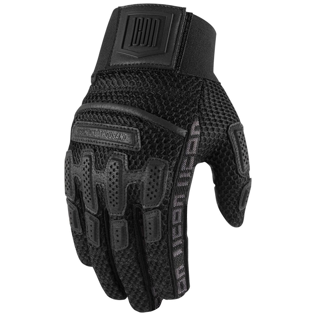 ICON One Thousand Men's Brigand Black Mesh Gloves