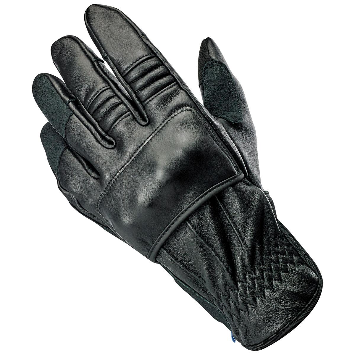 Biltwell Inc. Men's Belden Black Leather Gloves