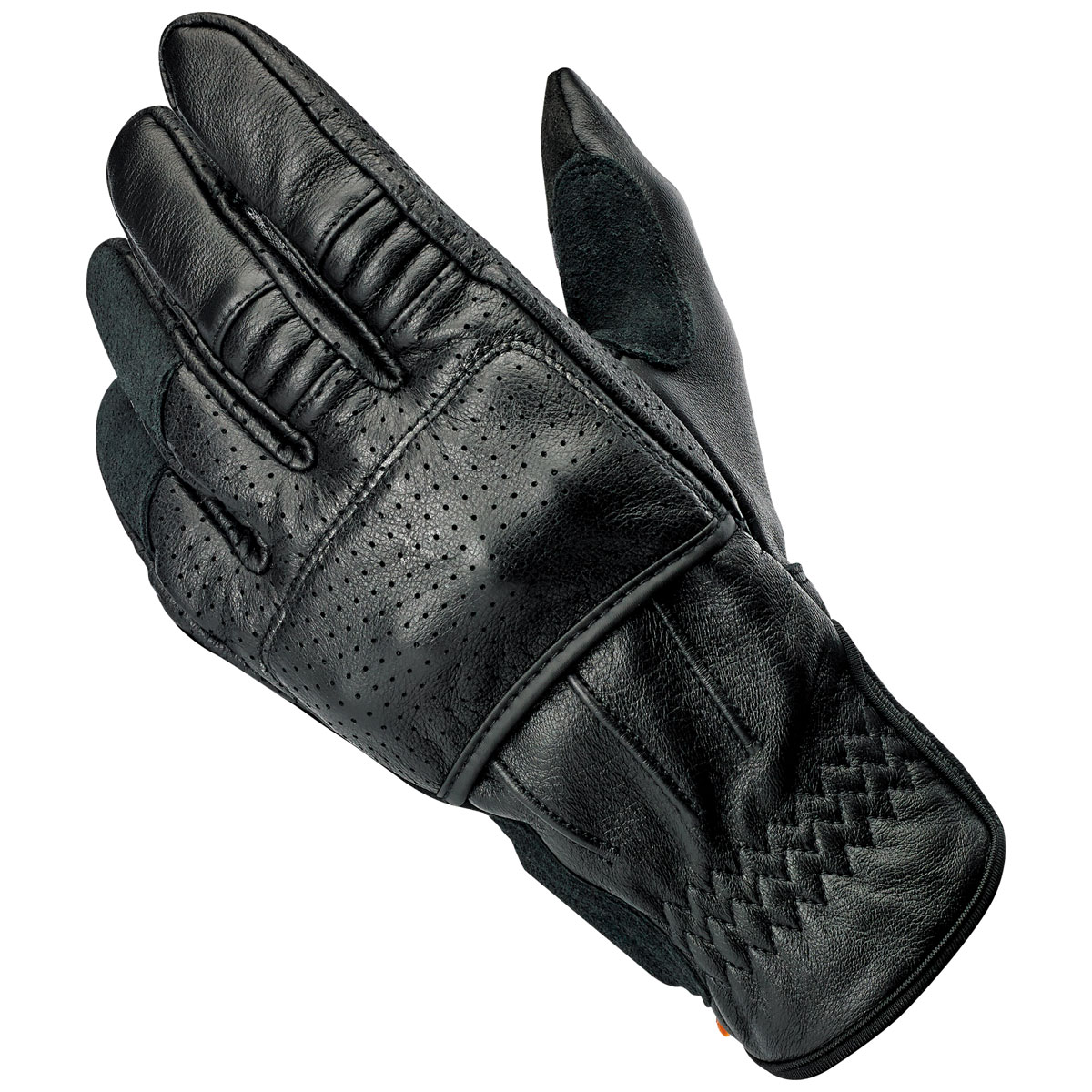 Biltwell Inc. Men's Borrego Black Leather Gloves