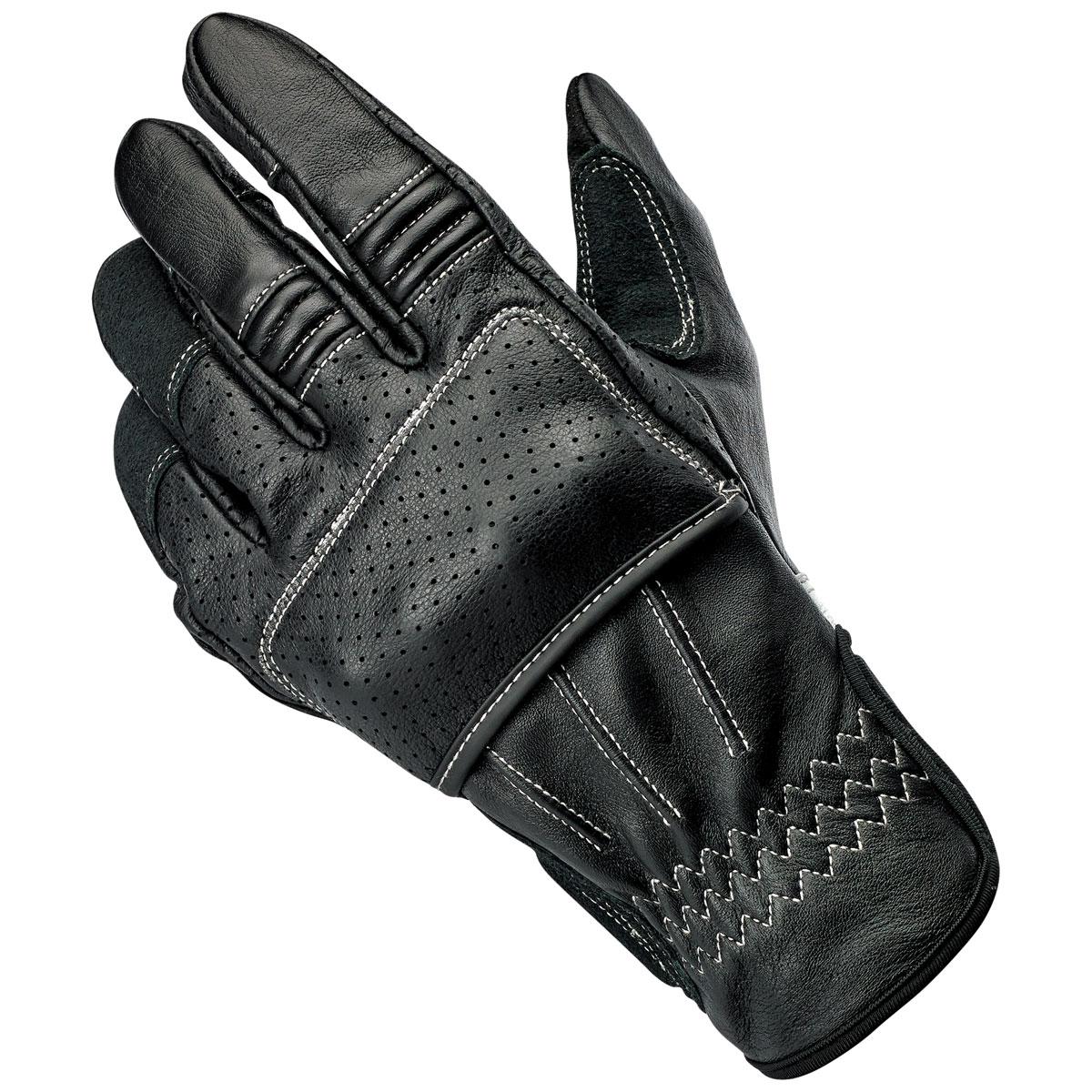 Biltwell Inc. Men's Borrego Black/Cement Leather Gloves