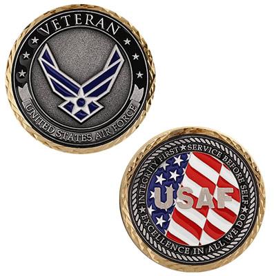 Motordog69 Veteran US Air Force Challenge Coin