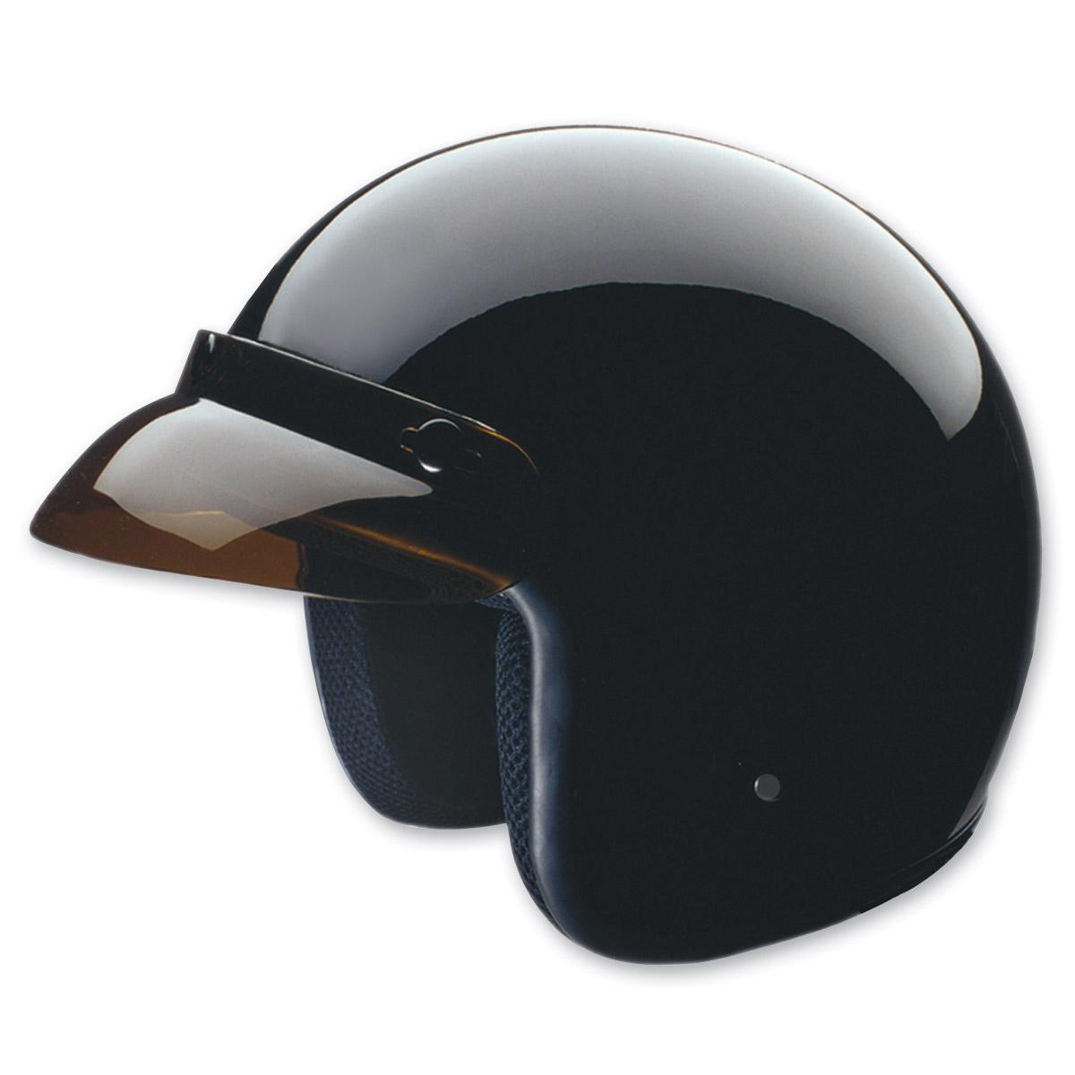 HCI-10 Gloss Black Open Face Helmet
