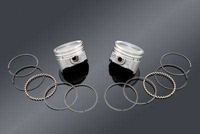 Keith Black Flat Top Piston Kit, 3.528
