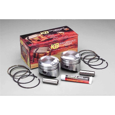 Keith Black Dome Top Piston Kit, 3.498