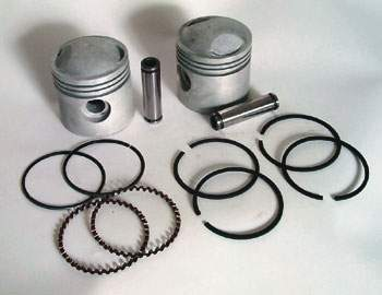 V-Twin Manufacturing Moly Coated Piston Kit, 3.438