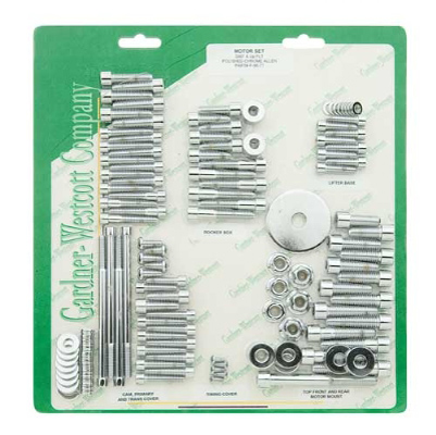 Gardner Westcott Chrome Motor Fastener Set for FL Touring Models