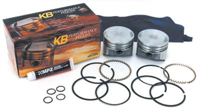 Keith Black Dome Top Big Bore Piston Kit, 3.880