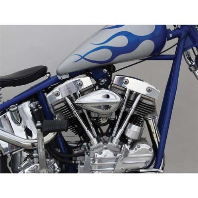 Paughco Ribbed Teardrop Air Cleaner for Keihin CV/Delphi EFI
