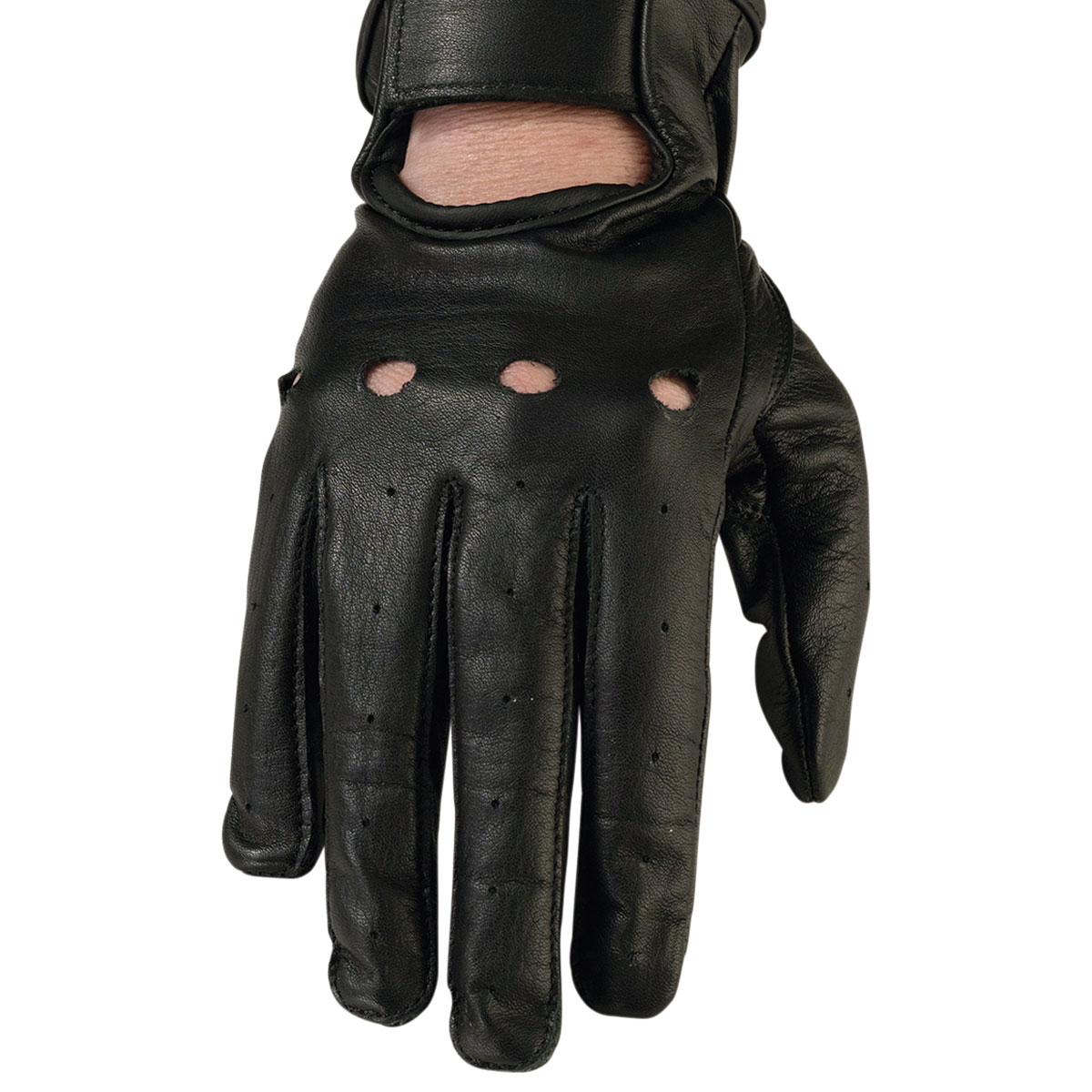 Z1R Women's 243 Black Leather Gloves