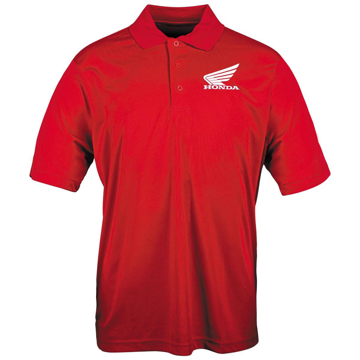 Honda Men's Big Wing Red Polo T-Shirt