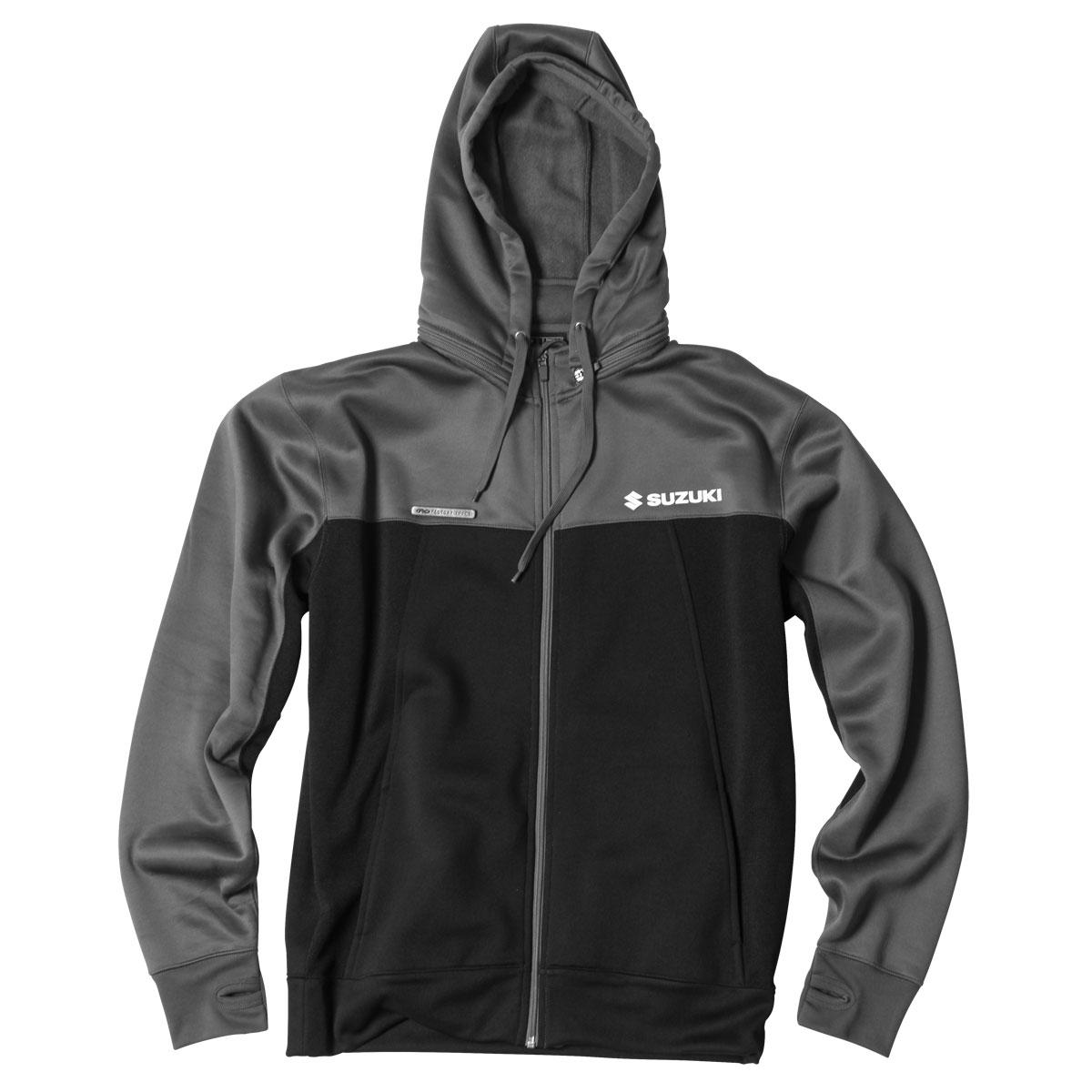 Factory Effex Men's Suzuki Tracker Gray/Black Fleece Jacket