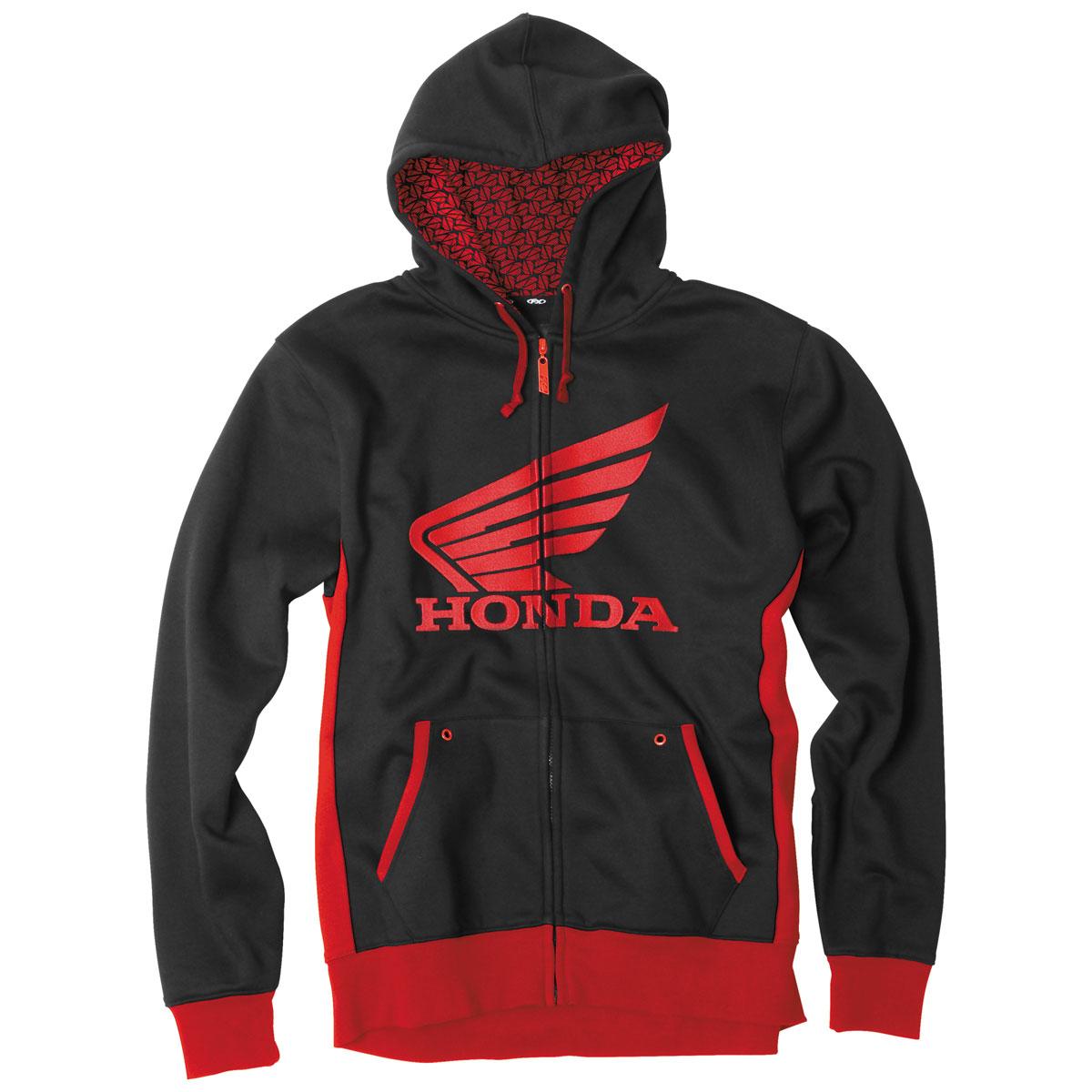 Factory Effex Men's Honda Limit Black/Red Zip Up Hoodie