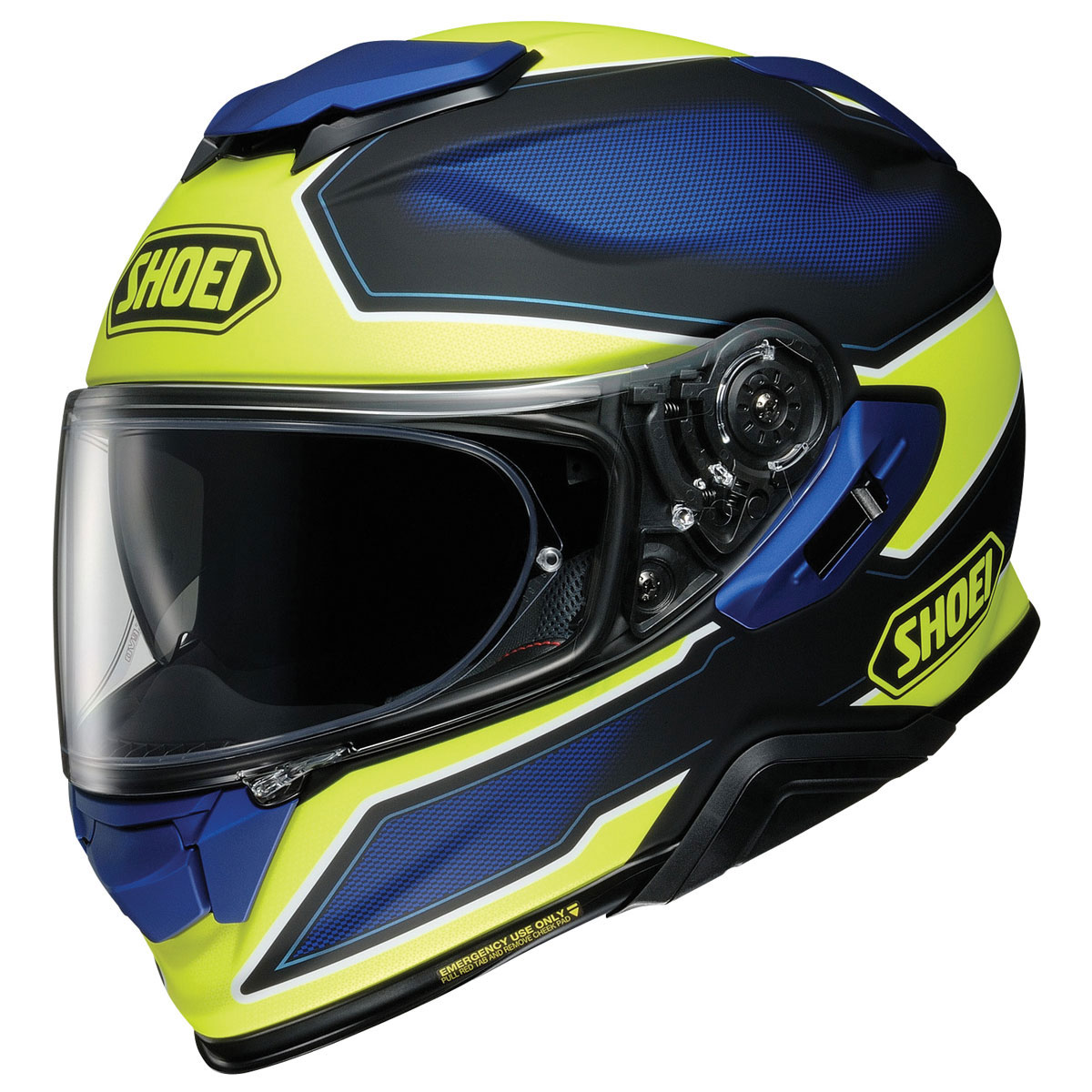 Shoei GT-Air II Bonafide Matte Yellow/Blue Full Face Helmet