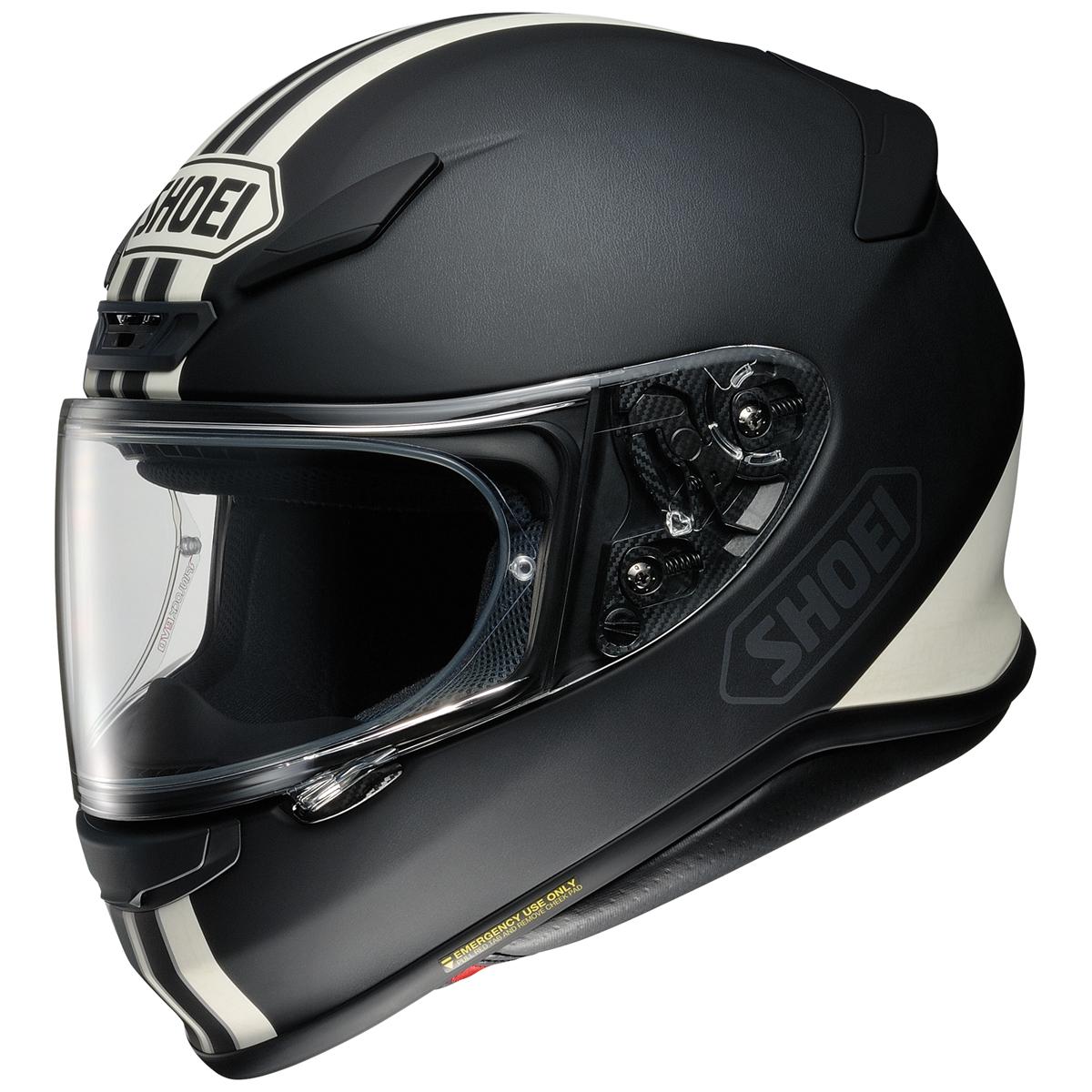 Shoei RF-1200 Equate Matte Black/White Full Face Helmet