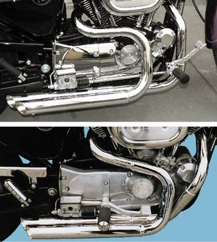 Bassani Pro-Street Chrome Slash-Cut Exhaust System