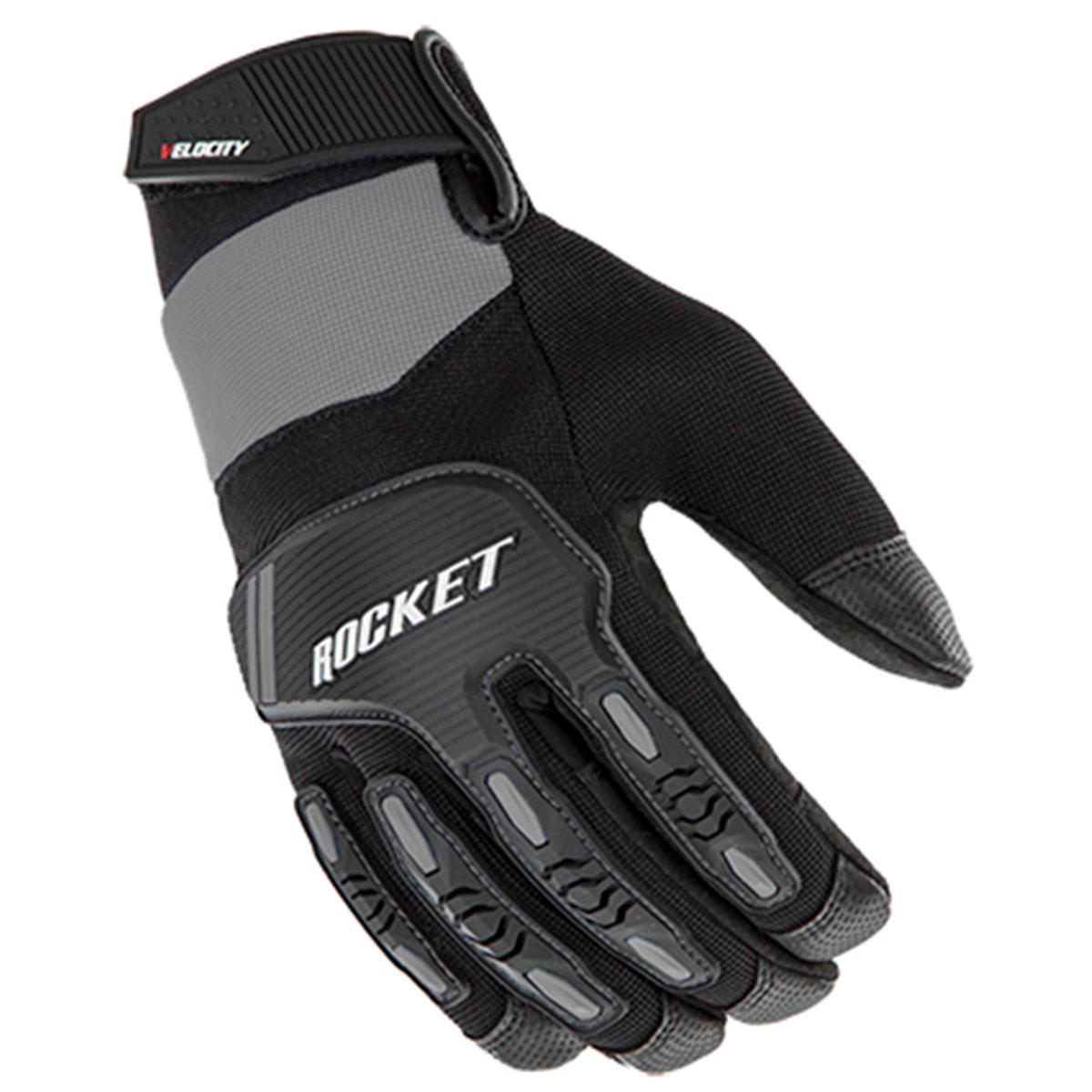 Joe Rocket Men's Velocity 3.0 Silver/Black Gloves