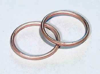 J&P Cycles® Round Copper Exhaust Port Gaskets
