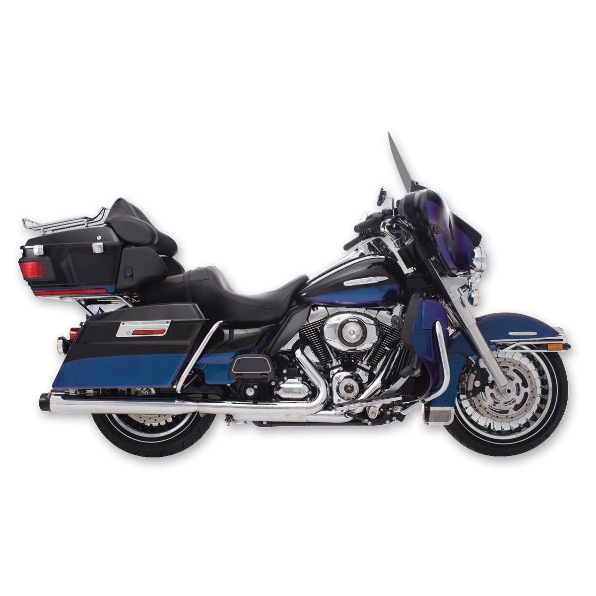 Rinehart Racing 4 Slip On Mufflers Chrome With Black End Caps 441 2000 Harley Flhpi Wiring Diagram