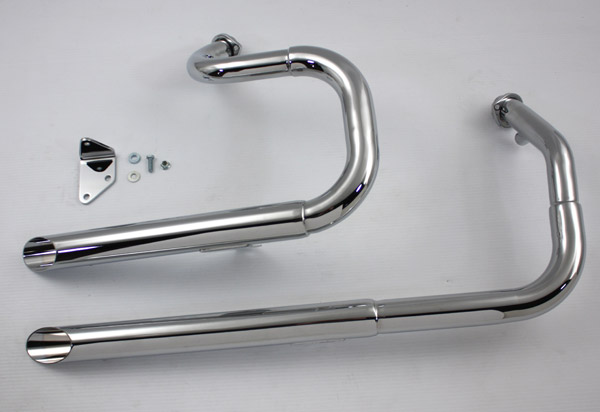 V-Twin Manufacturing Stepped Side-by-Side Exhaust System