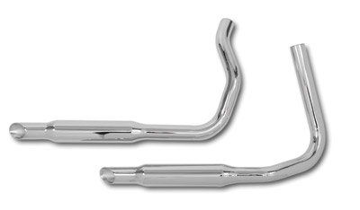 Paughco 1-3/4″ 38″ Long Staggered Dual Slash-cut Exhaust System