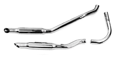 Paughco 1-3/4″ 38″ Long Over-The-Transmission Goose-cut 'S' Exhaust System