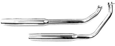 Paughco 1-3/4″ 38″ Long Shotgun Tapered Exhaust System Kickstart/Rigid Only