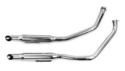 Paughco 1-3/4″ 38″ Long Staggered Dual Goose-cut Exhaust System