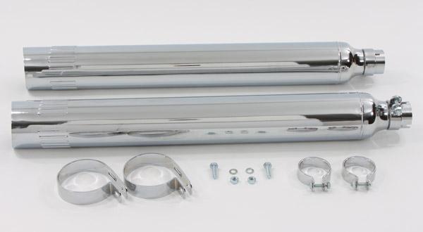 V-Twin Manufacturing Replica Chrome Muffler